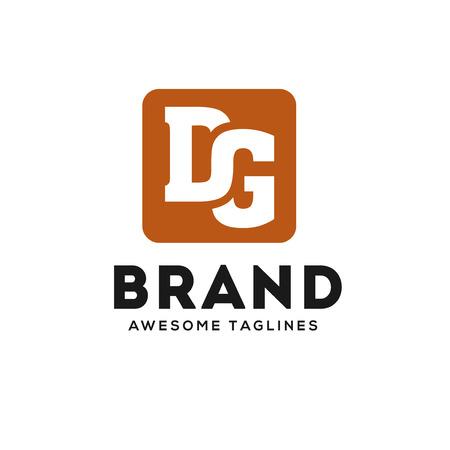 creative DG letter strong and bold logo vector concept