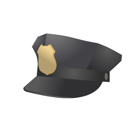 Police officer hat vector illustration isolated on white  イラスト・ベクター素材