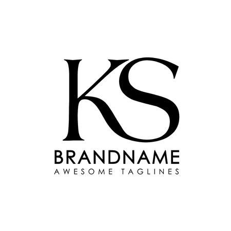 creative simple initial letters KS logo monogram style
