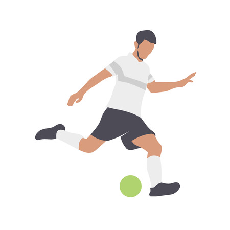 Soccer players silhouettes color vector illustration  イラスト・ベクター素材