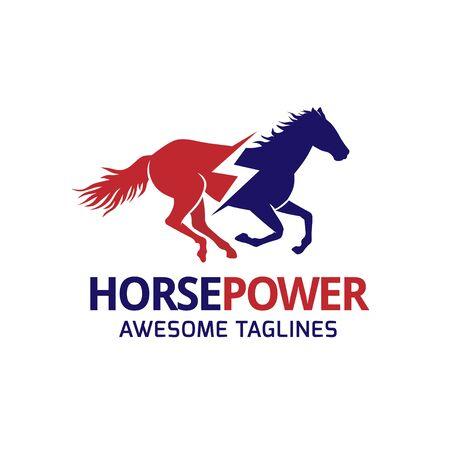 creative horse power logo concept illustration Ilustrace