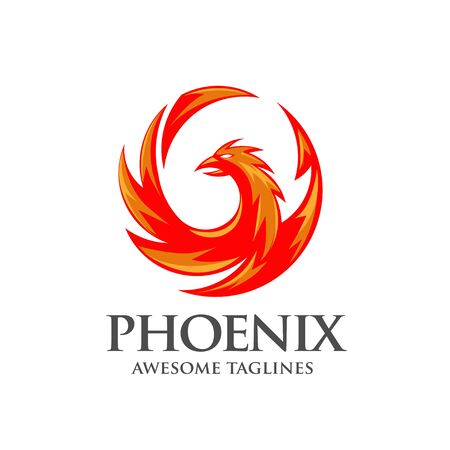 luxury phoenix logo concept, best phoenix bird logo design 矢量图像