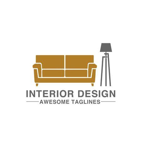 creative simple sofa and lamp for furniture logo company