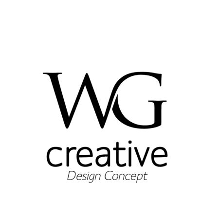 creative initial connected letters wg logo monogram style