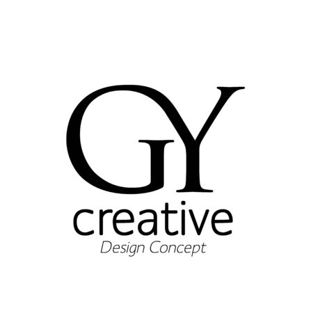 creative initial connected letters gy logo monogram style