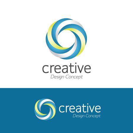 creative  simple design windmill logo. Whirligig icon vector. pinwheel Flat icon isolated