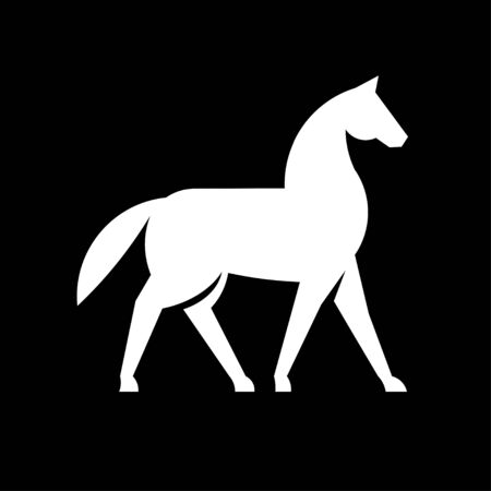 simple and memorable Horse Silhouette Logo Design vector Illustration