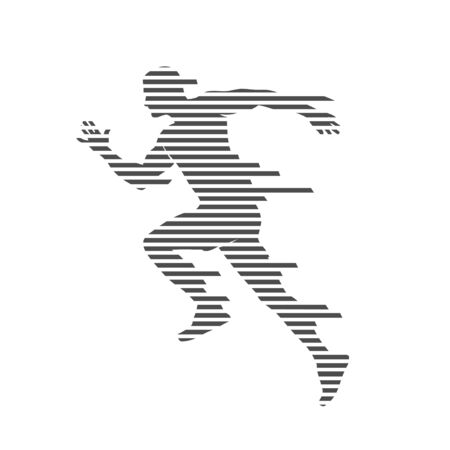 Man runner speed silhouette vector background template concept