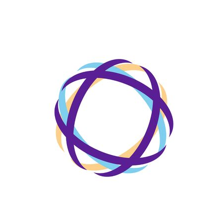 abstract technology circle curve color orbit vector