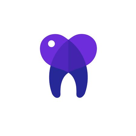 tooth heart vector illustration for toot care company concept Çizim