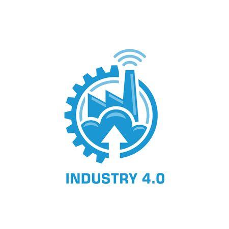 industry 4.0 manufacturing revolution concept vector illustration