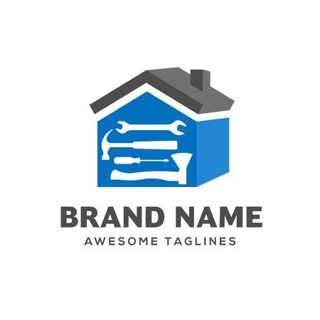 logo de rénovation domiciliaire, logo immobilier, création de logo de propriété et de construction Logo