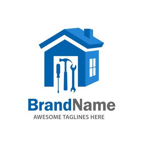 logo de rénovation domiciliaire, logo immobilier, création de logo de propriété et de construction