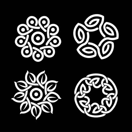 Vector Illustration color of a Celtic knot - mystic, decorative symbol with intertwined engraved lines