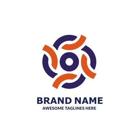 creative colorful circle group of unity logo design vector symbol Illustration Logo