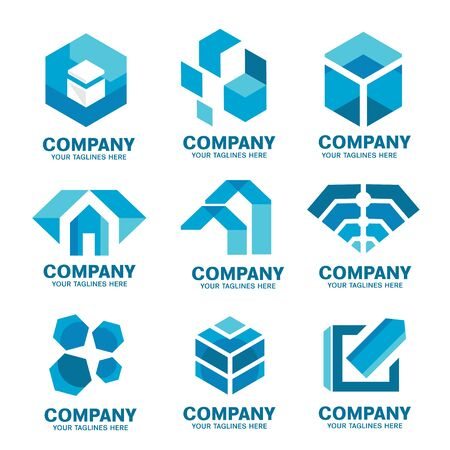 modern and simple corporate company logo collection,Abstract business modern logo icons collection
