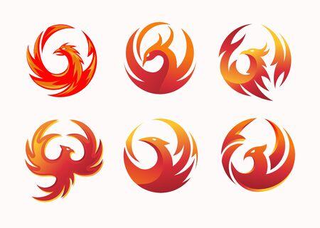 simple and elegant phoenix circle vector illustration concept suitable for all kind business, accounting, legal, management, sport, security etc. Vektorgrafik