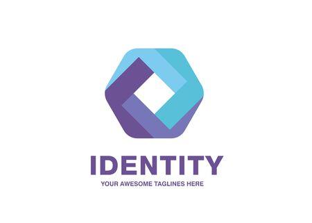 creative Impossible hexagon sign. Corporate Business geometric impossible abstract Logo design vector template. Hexagonal logo design. Logo