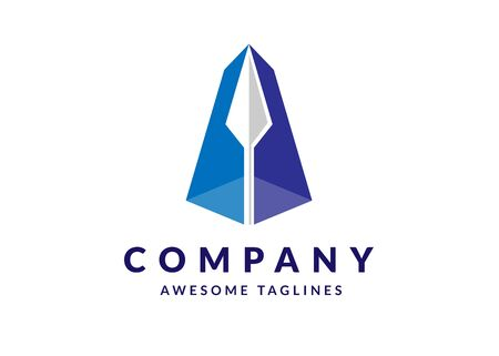 creative initial letter A arrow Up arrow finance logo, letter a Archer business logo template designs