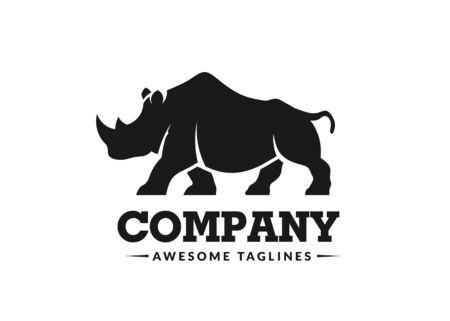 simple modern rhino logo vector illustration 向量圖像