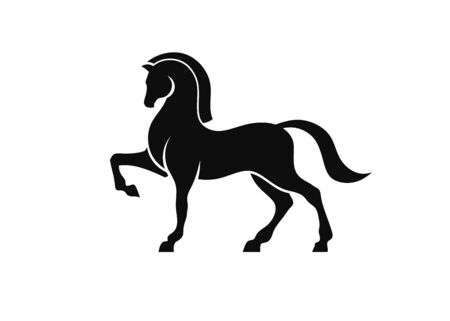 stylized illustration of Horse Silhouette Logo Design  イラスト・ベクター素材