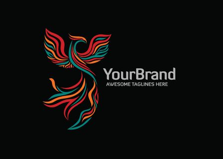 Elegant stylized phoenix logo with Modern color,A great brand for companies related to financial, consulting, technology etc Logo
