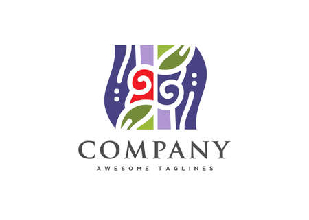 traditional handcrafted shop, Art and handmade craft logo,native art store