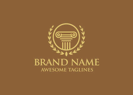 lawyer logo design Vector. attorney logo design template. advocate firm logo