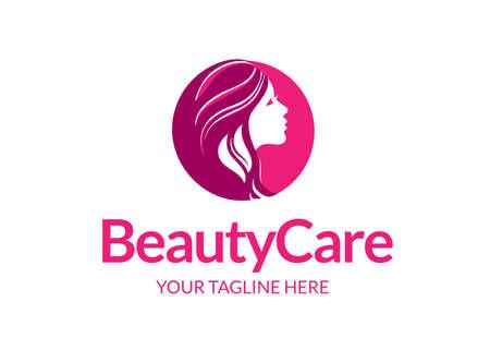 Beauty care logo icon design . Feminine Logo . beauty salon logo .Skin care Women Logo