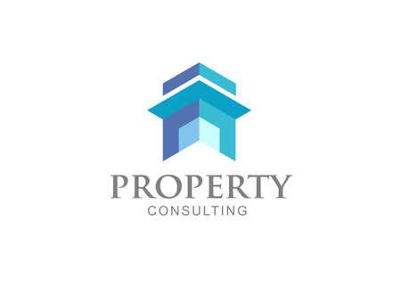 simple house building logo vector concept