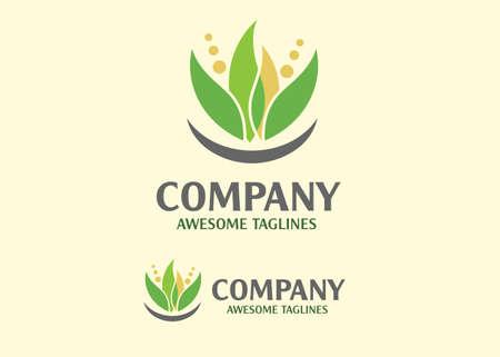 Abstract green leaf logo icon vector design