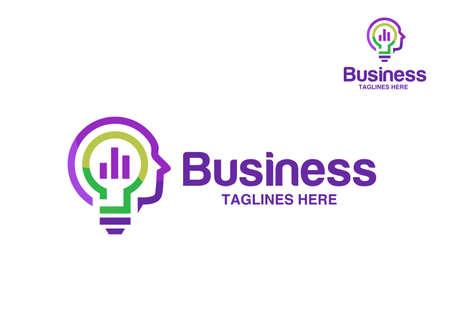 smart marketing idea logo vector concept