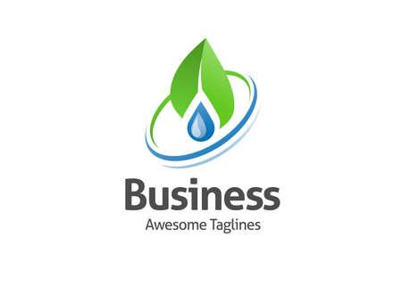 Water and leaf ecology logo. Blue water logo. nature water best logo. Aqua logo. Bright water logo. Eco logo. Environment logo