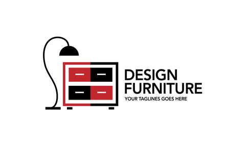 Modern furniture symbol logo design. Vector graphic illustration. Graphic design template