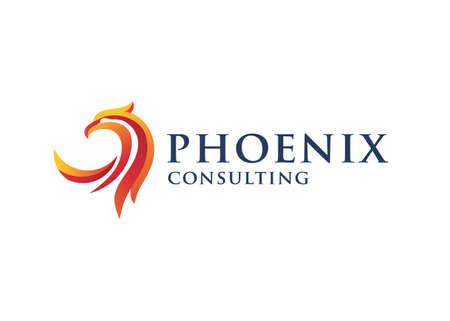 luxury phoenix logo concept, best phoenix bird logo design, phoenix vector logo Vectores