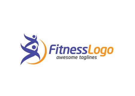 Health fit people logo vector template illustration, yoga club logo vector