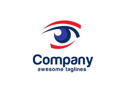 Vision Logotype concept idea, Eye Logo design vector template. beauty eyes vision icon. Vectores