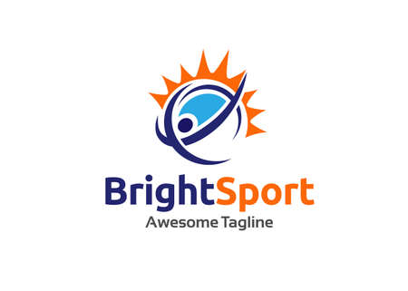 abstract Sport fitness creative logo design