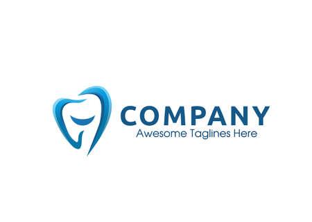 creative smile dental clinic Logo vector Design