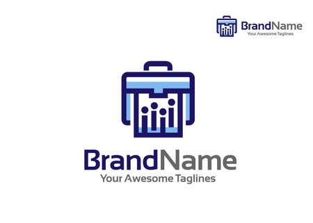 briefcase and office portfolio logo vector