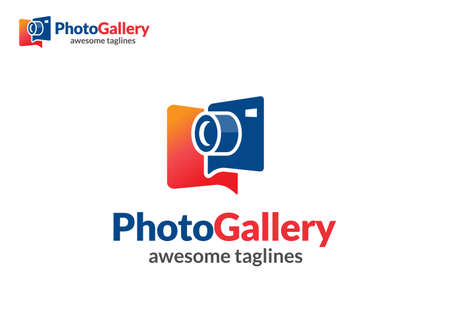 abstract colorful photo gallery logo vector concept Vectores