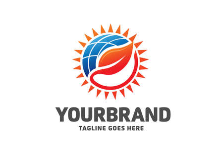 nature Sun solar energy logo design template. eco energy logo designs