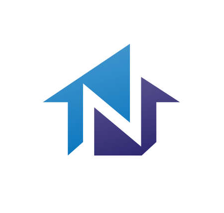 letter n house logo, icon logo for the construction business, with combination of the initials N