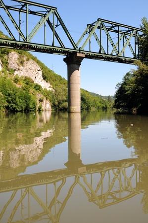 morava: bridge over Morava river in Ovcar-Kablar gorge Stock Photo