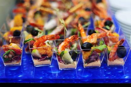 catering food: Finger food arrangement - food catering