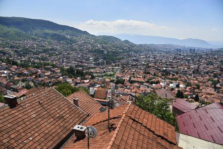 panoramic view of Sarajevo, Bosnia and Herzegovina