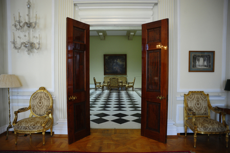 BELGRADE, SERBIA - APRIL 07, 2016: Interior of the Royal Palace also known as The White Palace is a place where the Serbian Royal family Karadjordjevic curently living on April 07, 2016 in Belgrade, Serbia
