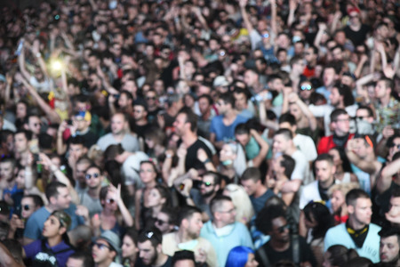 Crowd of people on exit festival 2017 at Novi Sa