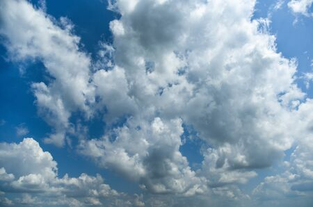 clouds on a blue sky, can be used as background or overlay Stok Fotoğraf