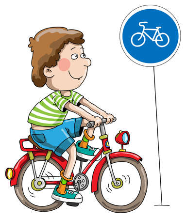 The Boy On A Bicycle Illustration